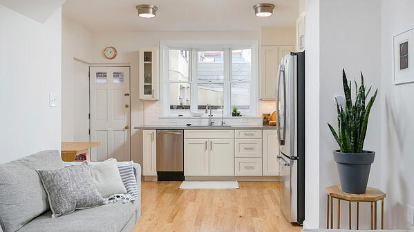 3 story kitchen addition in a tiny house footprint