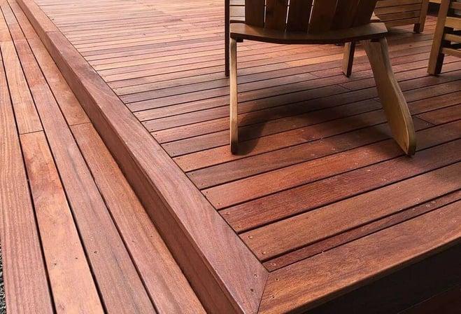 Hardwood deck material in Philadelphia