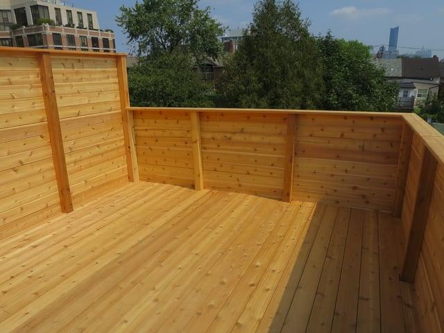 Cedar Rooftop Deck