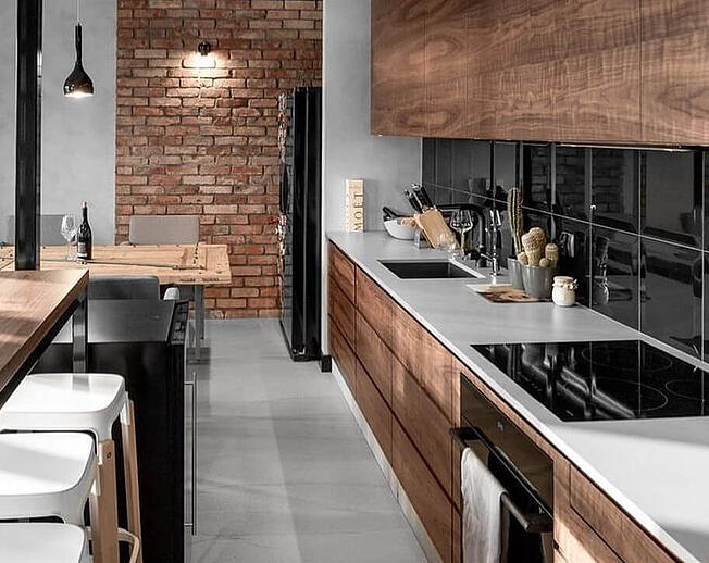 Industrial Galley Kitchen