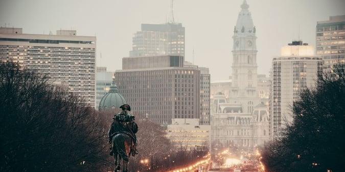 Philadelphia Street Skyline