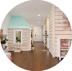Toddler Playhouse - Basement Playroom