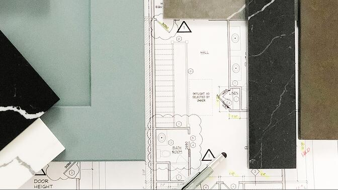 Sample board and floorplans for kitchen countertop designs-1