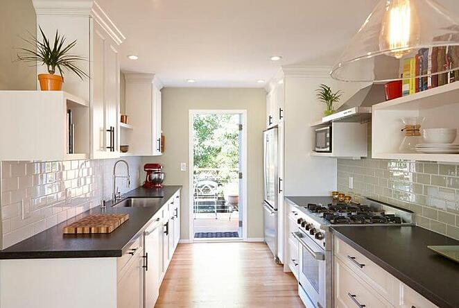 Transitional Galley Kitchen (1)