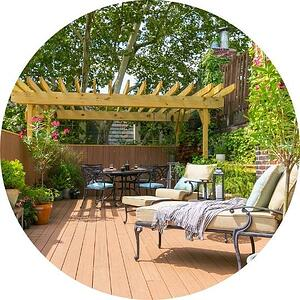 new wood rooftop deck with wood pergola by bellweather design buildin Philadelphia