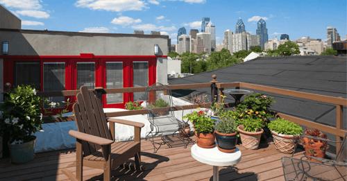 rooftop deck remodel in center city philadelphia