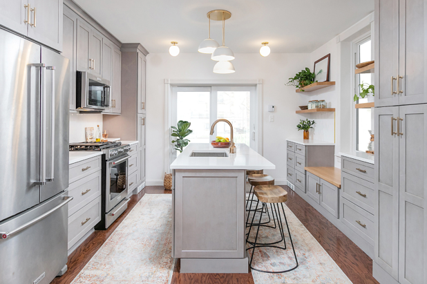 West Philadelphia Kitchen Remodel with Mid Century Vibes Transitional Philadelphia by Bellweather Design-Build-LLC