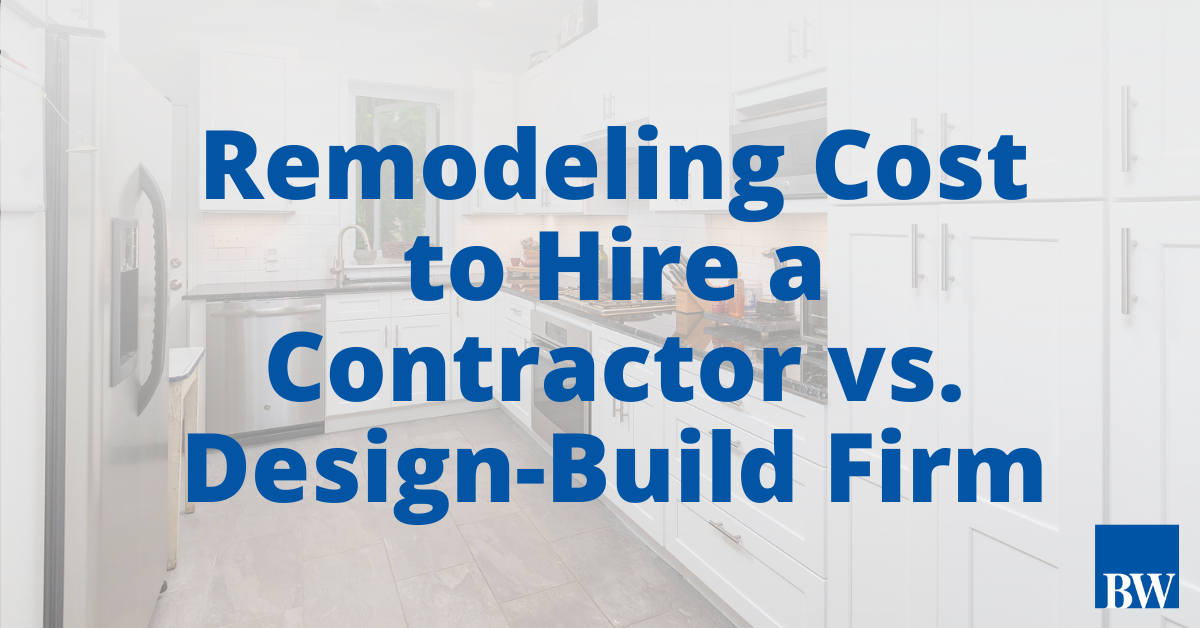 What Will a Remodel Cost if I Hire a Contractor vs. Design-Build firm?